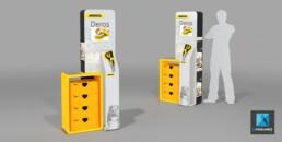 meuble présentoir de démonstration - image 3d