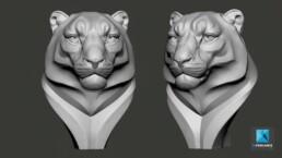 modelisation 3D ZBrush lion