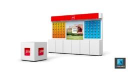 PLV SFR comptoir de vente - image 3d