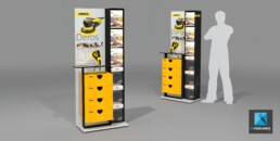 présentoir de vente - image 3d - Mirka