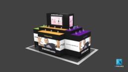 présentoir produit Samsung - image 3d