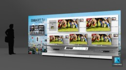 rayonnage magasin - image 3d - Samsung TV connect