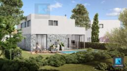 image 3d villa moderne