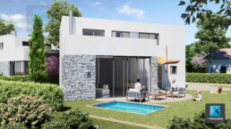 perspective 3d villa moderne - modélisation 3d