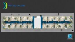 plan 3D - stand pavillon salon de l'agriculture