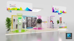 stand moderne - fillon technologies - perspective 3d