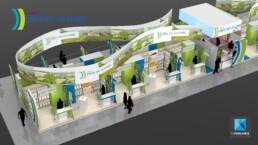 stand pavillon salon de l'agriculture - image 3d
