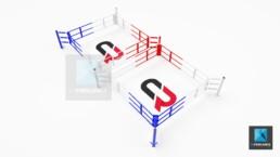 modélisation 3d ring de boxe