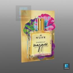 plv parfum - publicité sur le lieu de vente - nuxe - rendu 3D