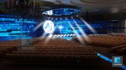image 3d scénographie de plénière - AI forum