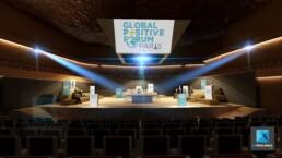 plan 3d dessin - scénographie plénière - global positive forum