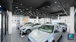 image 3d concessionnaire automobile showroom Hyundai