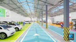 image 3d garage automobile atelier