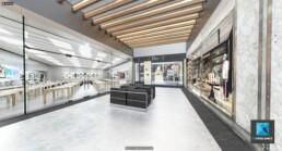 image 3d - visite virtuelle - magasins - galerie marchande - centre commercial