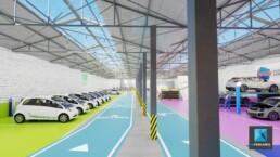 perspective 3d garage automobile Aubervilliers