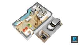 plan 3d maison - infographiste 3d Normandie
