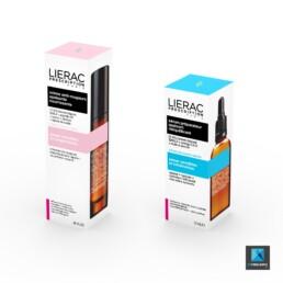 rendu 3d packaging produit cosmétique lierac