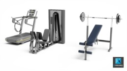 création image 3d machines fitness - appareils musculation