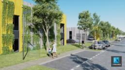 image 3d site industriel - parc d'activité dessin 3D