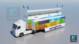 rendu 3d image camion publicitaire Syngenta