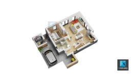 plan de surface maison Normandie freelance