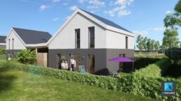 illustration rendu 3d architecture Normandie lotissement - prestataire freelance
