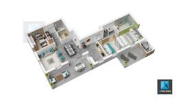 appartement 3d immobilier Rhône-Alpes plan meublé