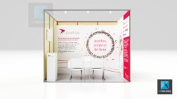 design mini stand médical - astellas