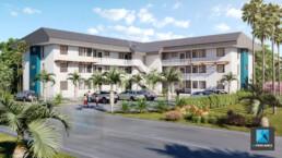 image 3d immeuble résidentiel Guyane française