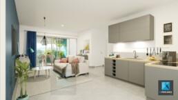 modélisation 3d séjour salon appartement Guyane française