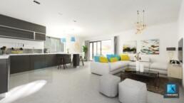 rendu 3d image appartement séjour Nouméa Nouvelle-Calédonie